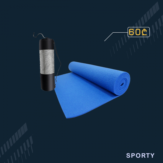 ლურჯი იოგა მატი 6მმ სისქე 60სმ სიგანე