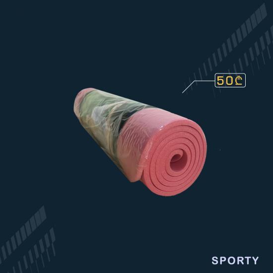 ვარდისფერი იოგა მატი 1სმ სისქე 60სმ სიგანე